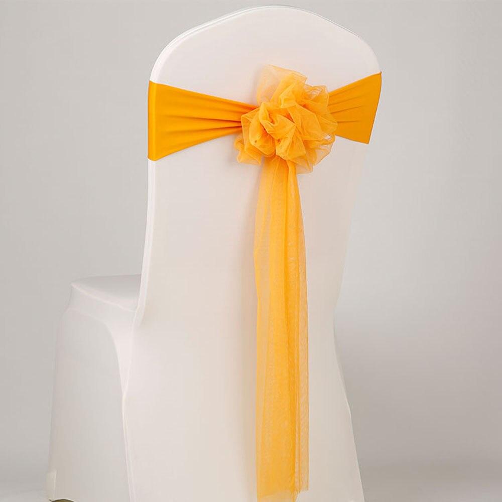 Nuevo 50 unids/lote decoración de fiesta de boda Lazo Rojo Silla de muselina cinta elástica Rosa SILLA DE LICRA para evento banquete Moderno de algodón de mantel de lino impermeable cuadrado fiesta banquete mantel para exteriores de Color sólido mantel NAPE de superposición
