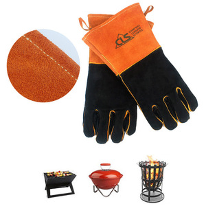 2 PCS Heat Resistant BBQ Grill mitten Oven Gloves Fire Proof Kitchen Cooking Accessories Outdoor BBQ Tool  for Grill Grilling