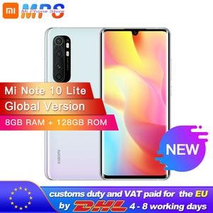 Глобальная версия смартфона xiaomi mi Note 10 Lite, 128 ГБ, 8 ГБ, Восьмиядерный процессор Snapdragon 730G, 64mp четыре камера, 5260 мАч, AMOLED экран 6,47 дюйма
