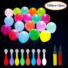 100Pcs Led Balloons Flashing Kids Luminous Toys,Led Light Up Balloon Party Supplies Birthday,Wedding,Festival,Celebration Ballon