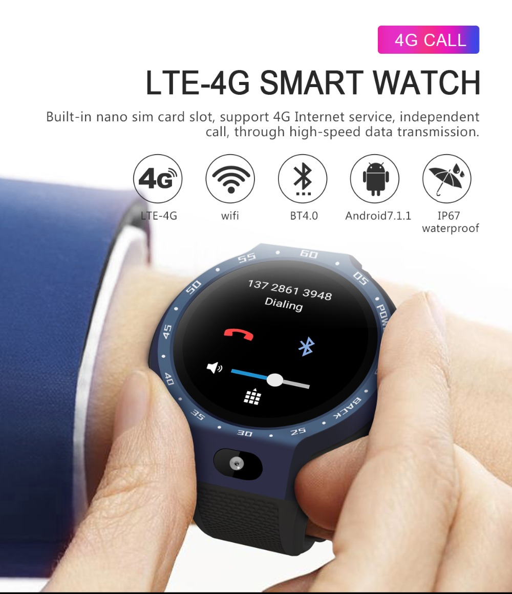 TORNTISC Z30 Dual Systems 4G Smart Watch phone Android 7.1 5MP Front Camera 600Mah Battery Support GPS WIFI Heart Rate Smartwatch PK LEM9 Presale (5)