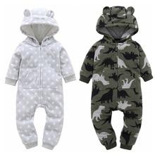 Baby Boy Girl Romper 2019 Newborn Jumpsuit Cartoon Overalls For Children Infant Baby Clothes Long Sleeve Warm Costume недорого