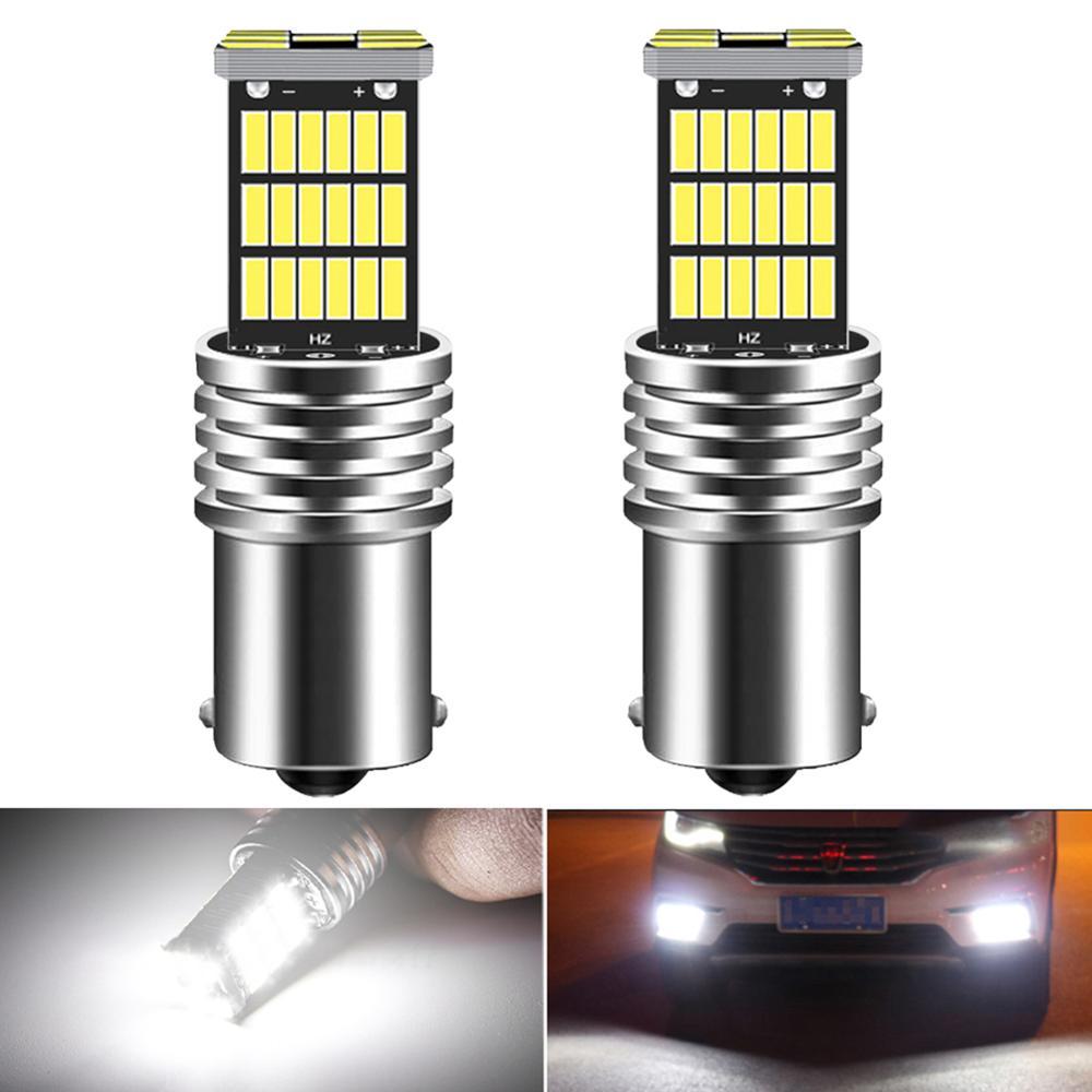 2x P21W CANbus Error Free 1200 Lumens 1156 7506 LED Bulbs Daytime Running Lights 6000K HID White For Volkswagen VW MK6 Jetta