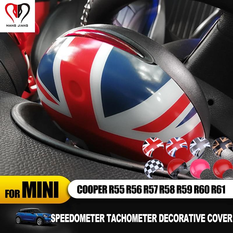 Hot Union Jack Car Tachometer Cover Cap Sticker For Mini Cooper R55 R56 R60 R61 R56 R57 R58 Countryman Clubman Interior Stickers