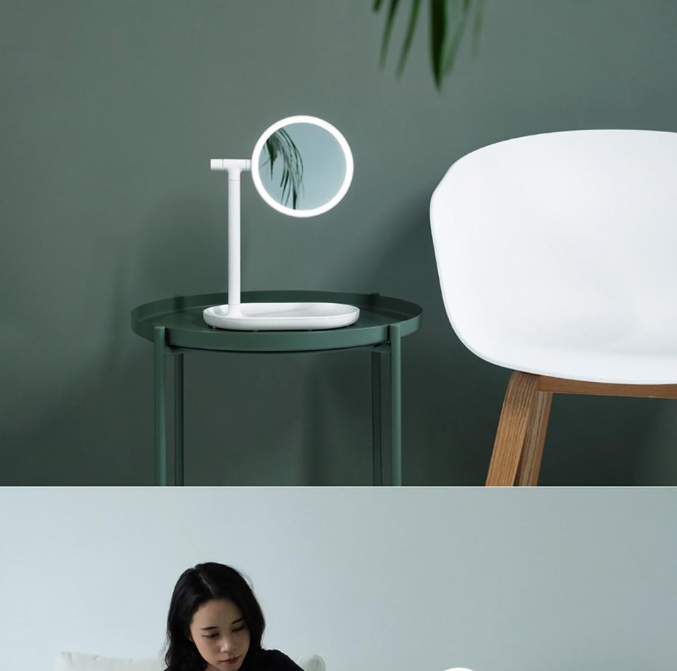 Espelho cosmético conduzido duplo-face circular 270 graus