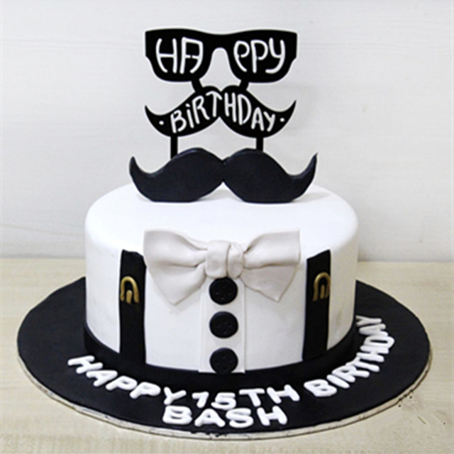 Amazing Beard And Bow Tie Father Plot Baking Cake Adorn I Love Dad Personalised Birthday Cards Veneteletsinfo