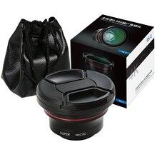 ORDRO широкоугольный объектив для 4K видеокамеры объектив 1080p Full HD камера 37 мм 0.39X объектив с макросъемкой видео запись