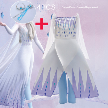 2020 Summer Frozen 2 Snow Queen Dress Girl Anna Elsa 5PC Kids Dresses For Girls Children Party Princess Cosplay Dress 10 12 Year elsa girl dress children nightgowns sleepshirts princess pajamas snow white nightdress for girls summer clothes pijamas kids