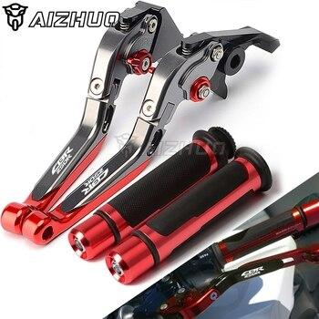 Palanca de embrague de freno extensible ajustable motocicleta sujeción de mano manillar para HONDA CBR250R cbr250 r CBR CB 125R 250R 125 250 R