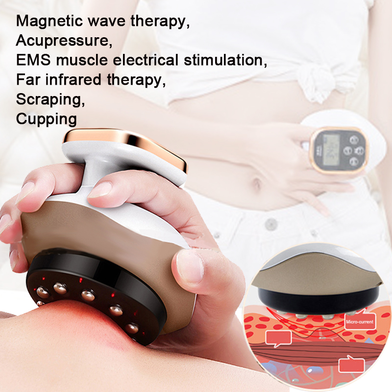 Cupping Guasha Scraping Device Vacuum Suction Cups Ventosas Anti Cellulite Magnet Therapy EMS Body Slimming Massager Weight Loss