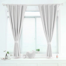 ENHAO Modern Short Curtains For Kitchen Window Curtain For Living Room Bedroom Solid Cloth Drapes Window Treatment Home Decor(China)