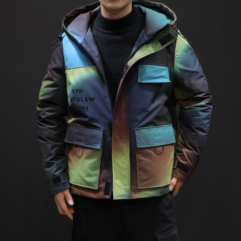 Зимняя камуфляжная куртка, Мужская теплая Толстая парка, Мужская модная повседневная куртка с капюшоном, мужская хлопковая куртка