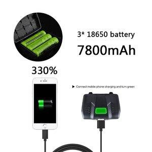 Image 5 - 2806 3800lm 32W chip XHP 70,2 & XHP50 Scheinwerfer leistungsstarke Led scheinwerfer zoom kopf lampe taschenlampe Laterne power bank licht