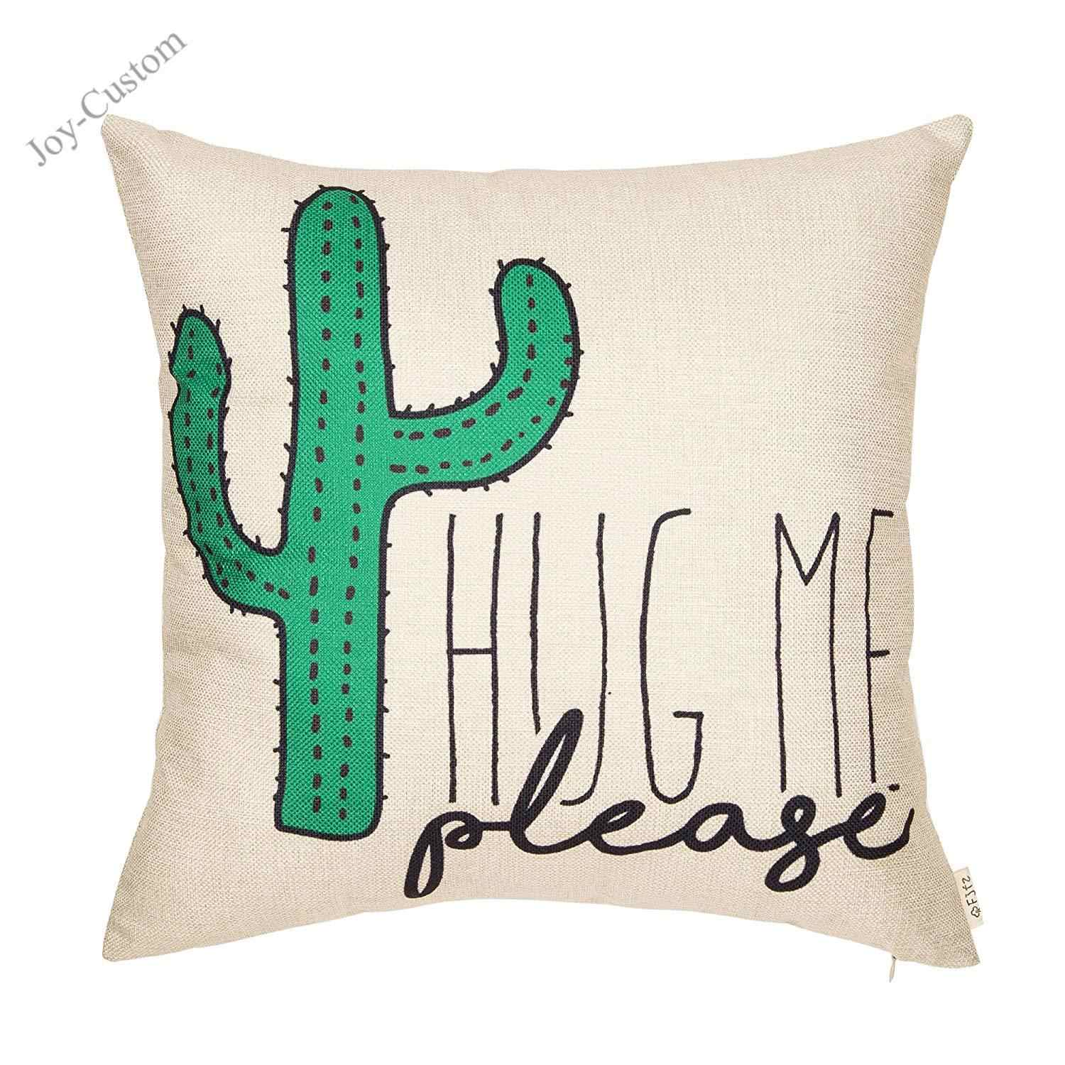 Picture of: Please Hug Me Cactus Funny Quote Decor Cotton Linen Throw Pillow Case Cushion Cover Christmas Pillow Cover Decorative Pillows Cushion Cover Aliexpress