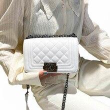 Women Diamond Check Shoulder Bag Luxury Designer Female Stripe Messenger Bag High Quality Leather Fashion Chain Handbags Purse