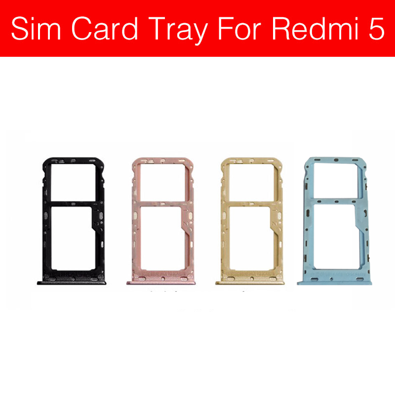 Micro Sim Card Tray Holder For Xiaomi Redmi 5 Plus 5+ 5Plus Micro SD Reader Sim Card Slot Flex Cable Replacement Repair Parts
