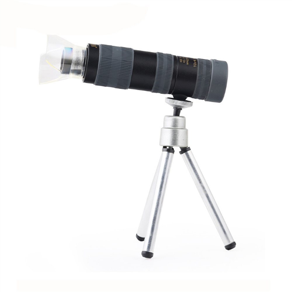 Bijia 10-30x25 monocular multi-função telescópio microscópio com suporte