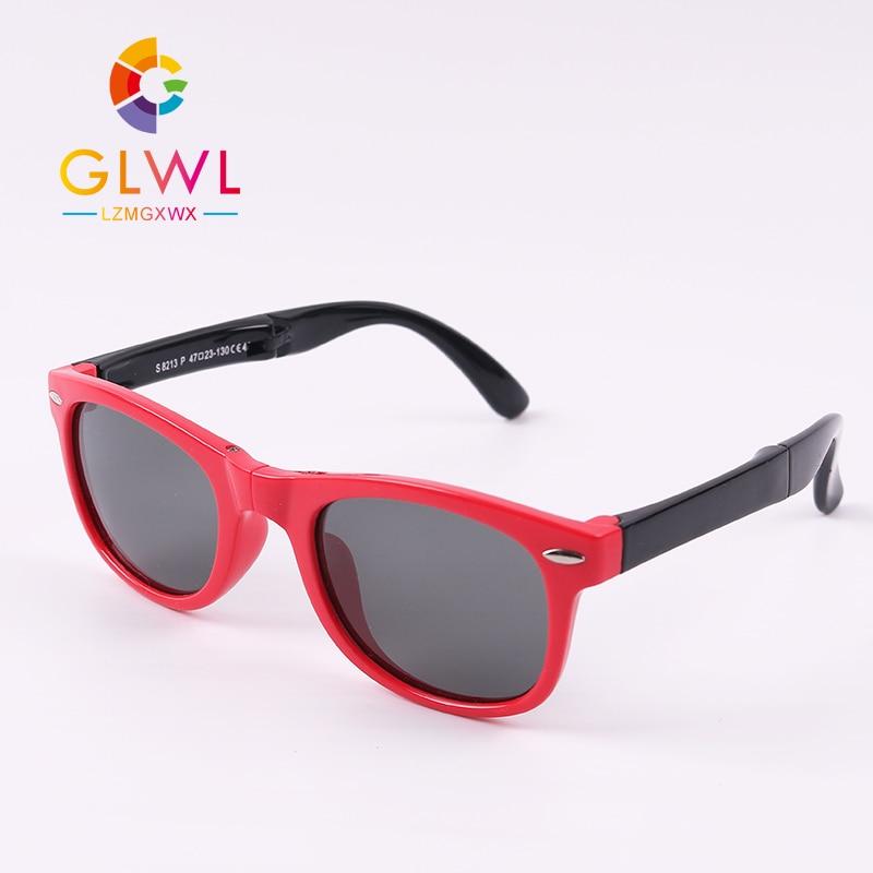 Polarized Sunglasses Kids With Rope Sun Glasses Baby Boys Girls Infant Square Eyewear Unbreakable Frame Eyeglasses Toddler Gifts
