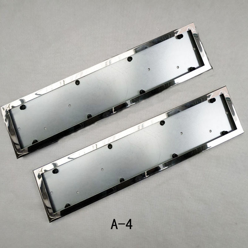Image 4 - For EU Car License Plate Frame metal Car License Plate Frame Number plate Holder 2pcs-in License Plate from Automobiles & Motorcycles