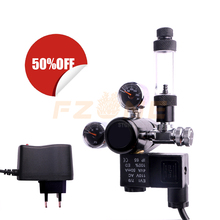 Aquarium CO2 Regulator DC Solenoid Valve With Bubble Counter Check Valve and Dual Mini Gauge for Inner and Output Pressure Show