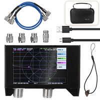 KKMOON-analizador de red de Vector, pantalla de 4,0 pulgadas, 3G, SAA-2N, NanoVNA, V2, Analizador de antena, probador de onda corta, HF, VHF, UHF, con carcasa de hierro