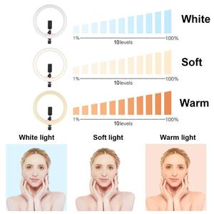 Image 5 - Tycipy 12 Ring Light LED Photography Selfie Light Photo Camera Video Soft Light with 1.1m Tripod Phone Clip for Make Up Live