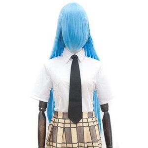 Image 1 - Xnaira 38 Cal 100cm długi Cosplay Lolita peruka Afro łatwy do dopasowania Anime Party Ombre syntetyczne blond peruki z Bangs dla kobiet