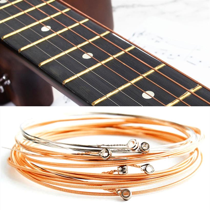 Струны 1-6 из чистой меди для классических гитарных струн, аксессуары из стальной проволоки для классических акустических и народных гитар, 6...