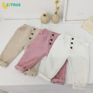 CITRUS Children Pants Corduroy Kids Spring Autumn Clothes Girls Trousers For Baby Boys Pants Toddler Pants Ribbed Boy Pants