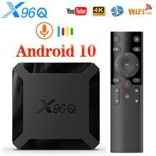 Vontar x96q smart tv box android 10 4k allwinner h313 quad core 2gb 16gb youtube conjunto superior caixa tvbox android 10.0 media player
