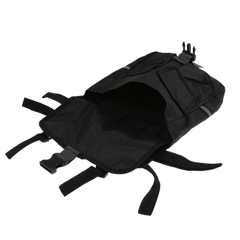 Сумка-седло на лямках из нейлона, 1 шт., багажная задняя стойка, двойные подштанники, регулируемая