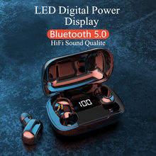 新ワイヤレス bluetooth 5.0 イヤホン tws ハイファイミニ in 耳スポーツランニングヘッドセットのサポート ios/android 携帯電話 hd 通話