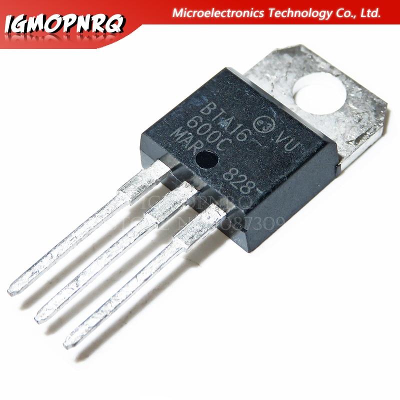 5pcs BTA16-600C BTA16-600 BTA16 Triacs 16 Amp 600 Volt TO-220 new original
