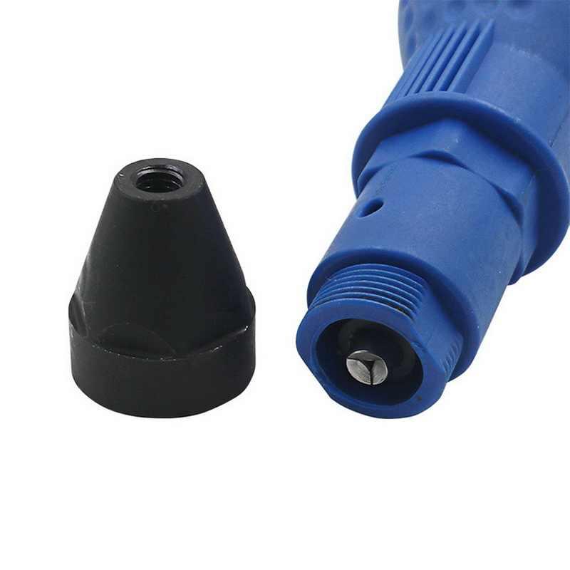 7 pièces/ensemble électrique riveteuse écrou pistolet rivetage outil sans fil rivetage perceuse adaptateur insérer écrou outil avec clé et écrous 2.4- 4.8mm