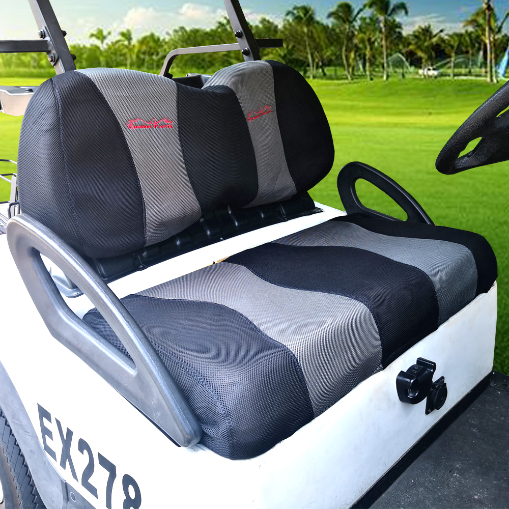 Golf Cart Seat Cover Set Fit for Club Car DS, Precedent & Yamaha,Breathable Washable Polyester Mesh Cloth. Renew your Golf Cart. 1