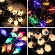 200/300cm 할로윈 luces led decoracion 10/20pcs 문자열 조명 깜박이 야간 조명 제어 스위치 배터리 전원 재활용 새로운