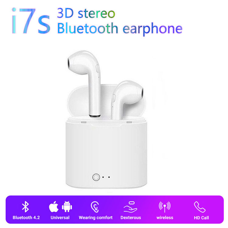 Wireless I7s TWS Bluetooth Earphones Bluetooth 5.0 Headset With Charging Box Mic Hifi Stereo Earbuds For Xiaomi IPhone Huawei