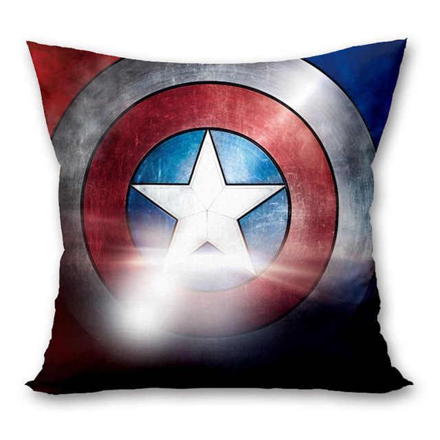 45 × 45 センチメートルスーパーヒーローマーベルスーパーマン鉄スパイダーマンポリエステルソフト枕ケースホーム寝室のホテルベッドカーシートの装飾。