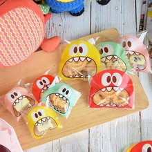 Plastic Big Teech Mouth Sweets and Candy Food Bag Cookie Easter Candy Gift Packaging Birthday Treats Bags Party decoration bag