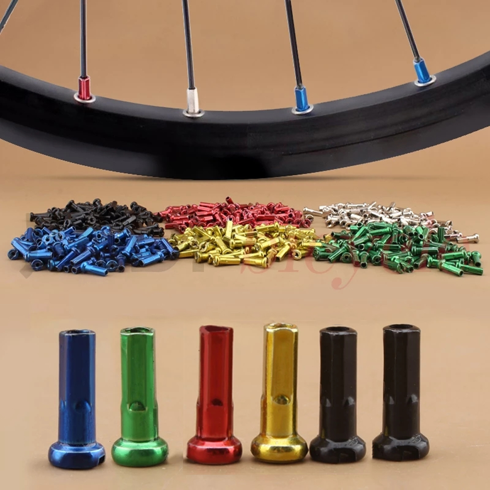 10Pcs Multicolor Aluminum Alloy Anodized Bike Wheel Spoke Nipples 14mm Mountain Bike Cycling Spokes Nipples For Bicycle Wheel