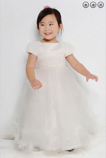 Free Shipping Flower Girl Dresses For Weddings 2016 First Communion Christmas Christmas Pageant Dresses For Girls White Dress