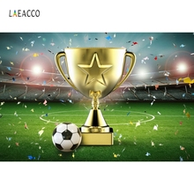 Laeacco Champion Cup Football Soccer Field Kid Photocall Photography Backdrops Photography Backgrounds Custom For Photo Studio