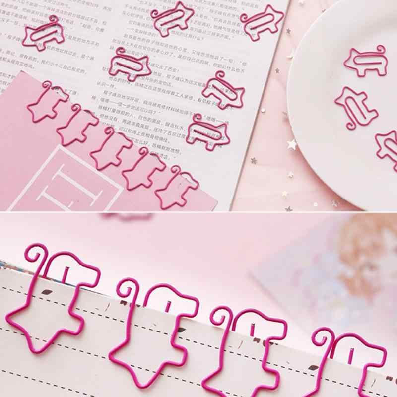 2020 Cartoon Pig Bookmark Planner, металлический зажим для бумаги, материал, книга, Канцтовары, школьные и офисные принадлежности