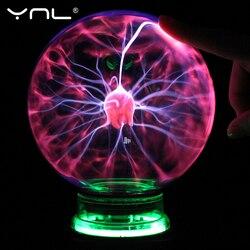 Новинка Стекло магический плазменный шар лампа для детей 4, 5, 6 дюймов ночной Светильник для детей, подарок на Рождество, настольный светильн...