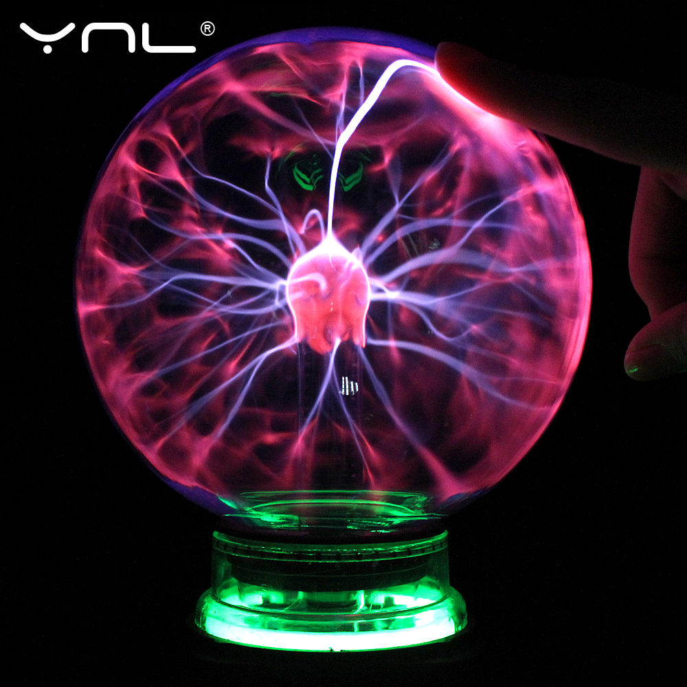 Novelty Glass Magic Plasma Ball Lamp 4 5 6 Inch Night Light Kids Gift Christmas Table Lights Sphere Home Decor Plasma Ball Light