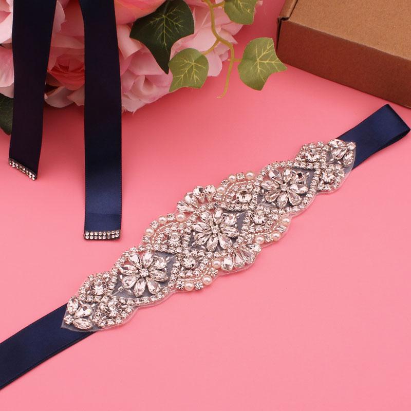 YJWSXF bridal belt women\'s belt wedding dress belt rhinestone bridesmaid belt wedding accessories
