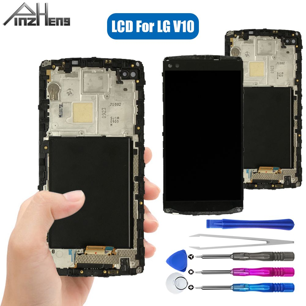 PINZHENG AAAA Quality LCD For <font><b>LG</b></font> <font><b>V10</b></font> H960 H968 H900 VS990 LCD <font><b>Display</b></font> Touch Screen Digitizer For <font><b>LG</b></font> <font><b>V10</b></font> <font><b>Display</b></font> LCD Replacement image