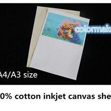 А4 матовая поверхность для струйной печати хлопок парусина для струйного принтера