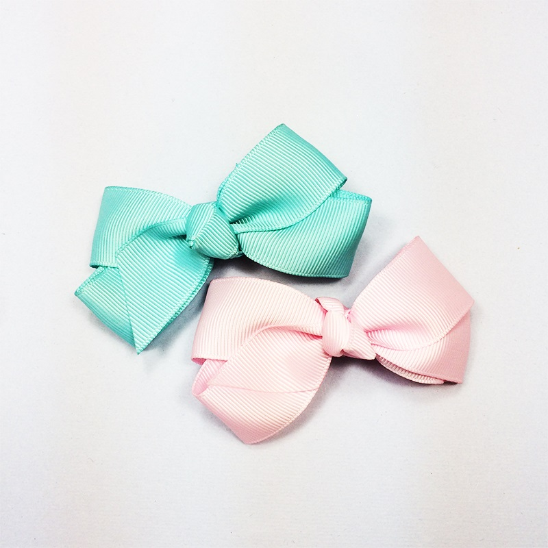 1 Pcs lot Handmade Ribbon Barrettes Clips Boutique Girls Women Hair Bows With Clip Hair Pins For Kids Children Hair Accessories in Hair Accessories from Mother Kids