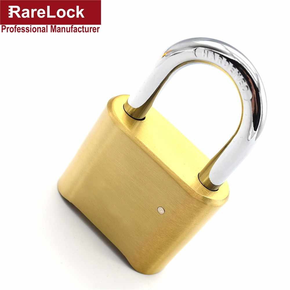Rarelock Brass Combination Padlock Password Lock 4 Digit for Gate Door School Cabinet Gym Locker DIY Hardware MMS57-1 aa